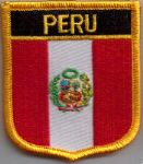 Peru Embroidered Flag Patch, style 07